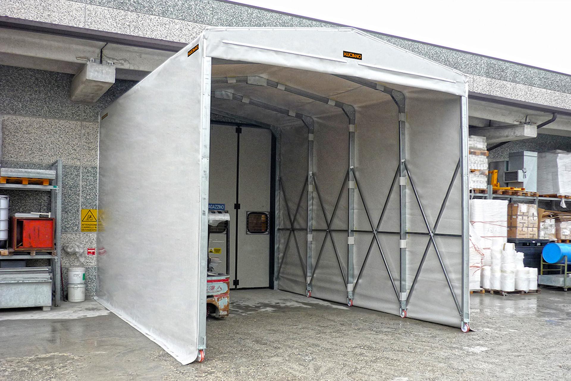 Tunnel mobili, coperture mobili, tunnel in pvc